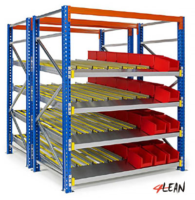 With picking Tray In double deep pallet racks
