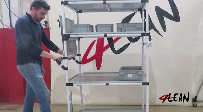 Lean Manufacturing - 4Lean - Mizusumashi - Box Foldable Plate Wagon Modular