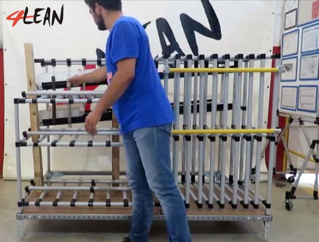 Lean Manufacturing - 4Lean - Mizumashi - Modular - Kit Cart