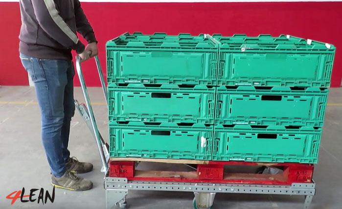 Lean Manufacturing - 4Lean - mizusumashi - Handle Component