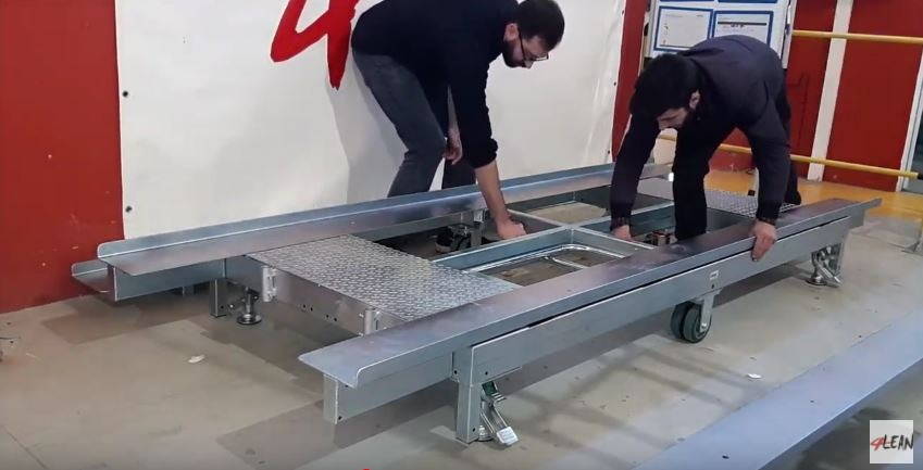 Lean Manufacturing - 4Lean - Container Base Wagon Mizusumashi