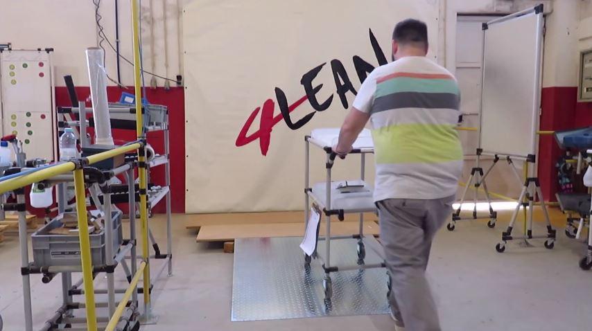 Lean Manufacturing - 4Lean - Structure for ramp Mizusumashi