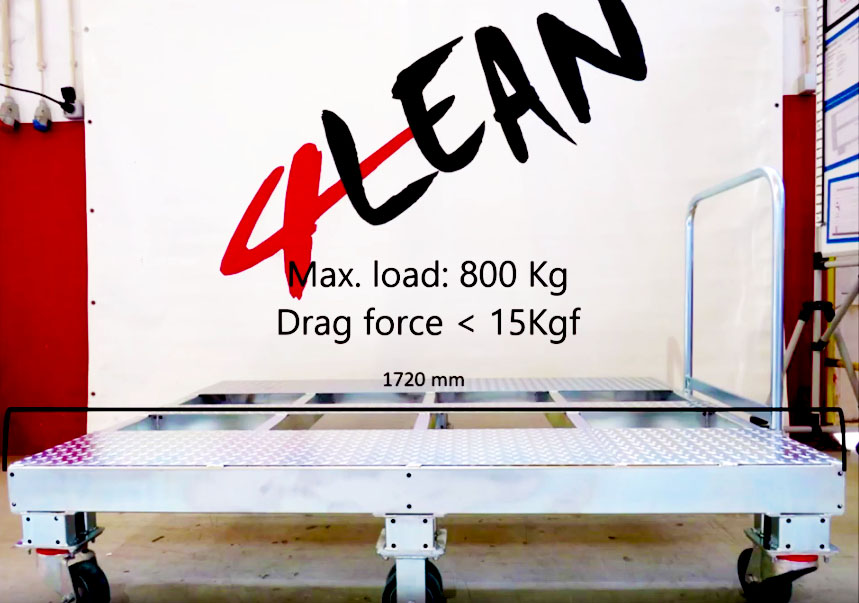 Lean Manufacturing - 4Lean - Container Liftable Plate Wagon Mizusumashi