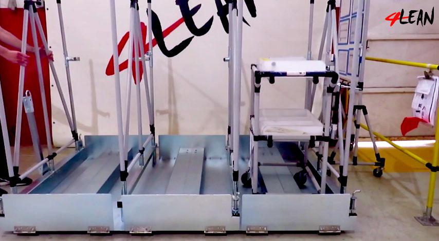 Lean Manufacturing - 4Lean - Trolley Lowerd Wagon Mizusumashi
