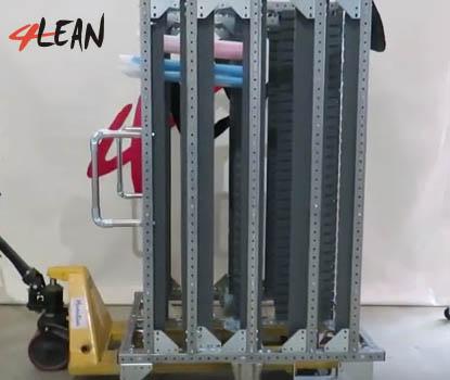 Lean Manufacturing - 4Lean - Panel tilt Cart Modular