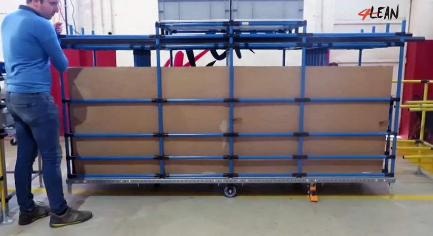 Lean Manufacturing - 4Lean - Mizusumashi - Modular - Kit Cart Modular
