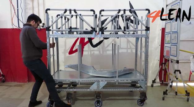 Lean Manufacturing - 4Lean - Mizusumashi - Kit Cart Modular