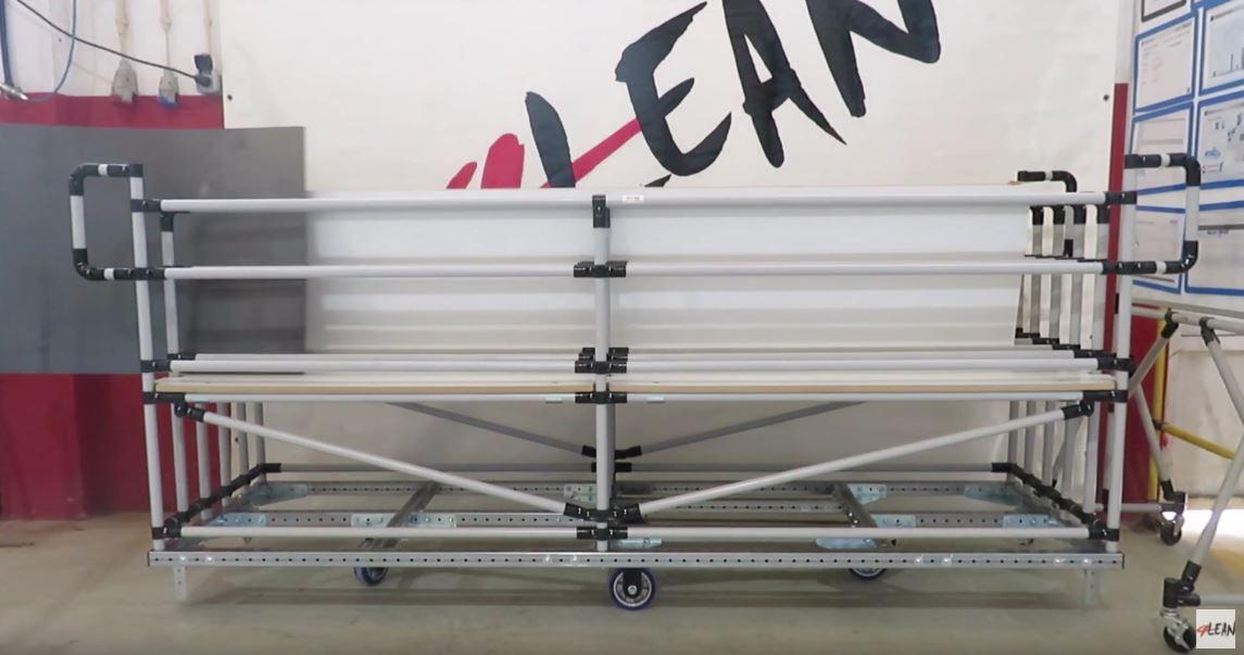 Lean Manufacturing - 4Lean - Mizusumashi-Tall Panel Wagon Modular