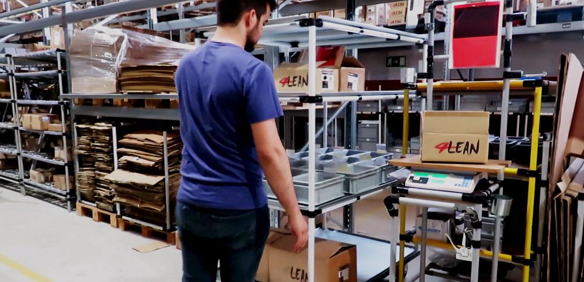 Lean Manufacturing - 4Lean - mizumashi - Box Straight Plate Rack