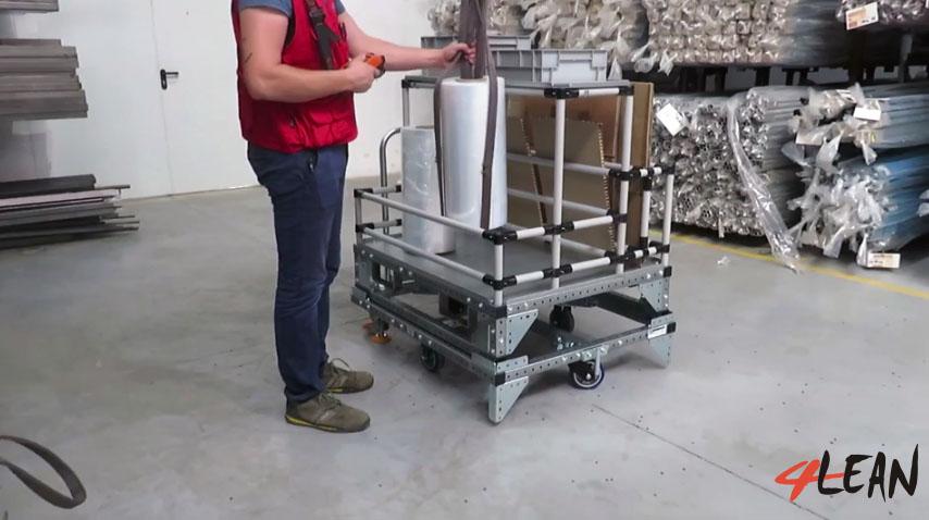 Lean Manufacturing - 4Lean - Mizusumashi - Kit Pallet Modular
