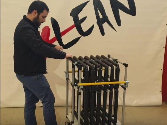 Lean Manufacturing - 4Lean - Panel Cart Mizusumashi