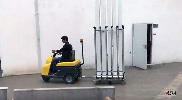 Lean Manufacturing - 4Lean - Reinforced arm for stability Mizusumashi