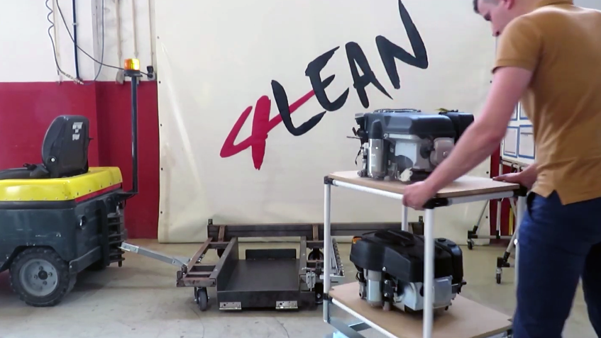 Lean Manufacturing-4Lean-Part Straight Plate Cart-Mizusumashi