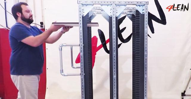 Lean Manufacturing - 4Lean - Part Straight Plate Cart Mizusumashi