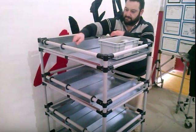Lean Manufacturing - 4Lean - Pallet Multishelve Mizusumashi
