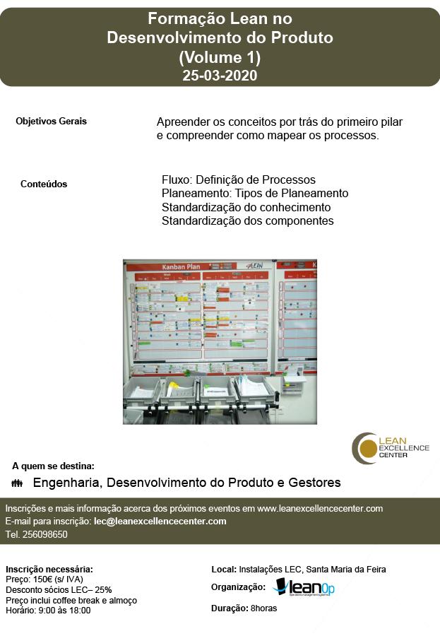 Formação Lean no Desenvolvimento do Produto (Volume 1) - 25 March 2020
