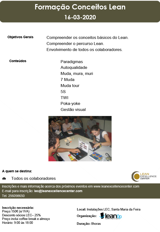 Training Conceitos Lean - 16 March 2020