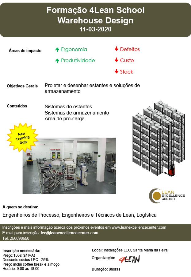 Formação 4Lean School Warehouse Design – 11 Março 2020